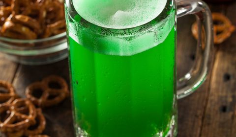 Green Beer in a Mug for St. Patrick's Day Celebration